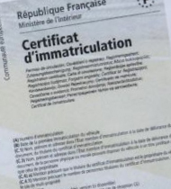 image Carte grise Plaque d'immatriculation